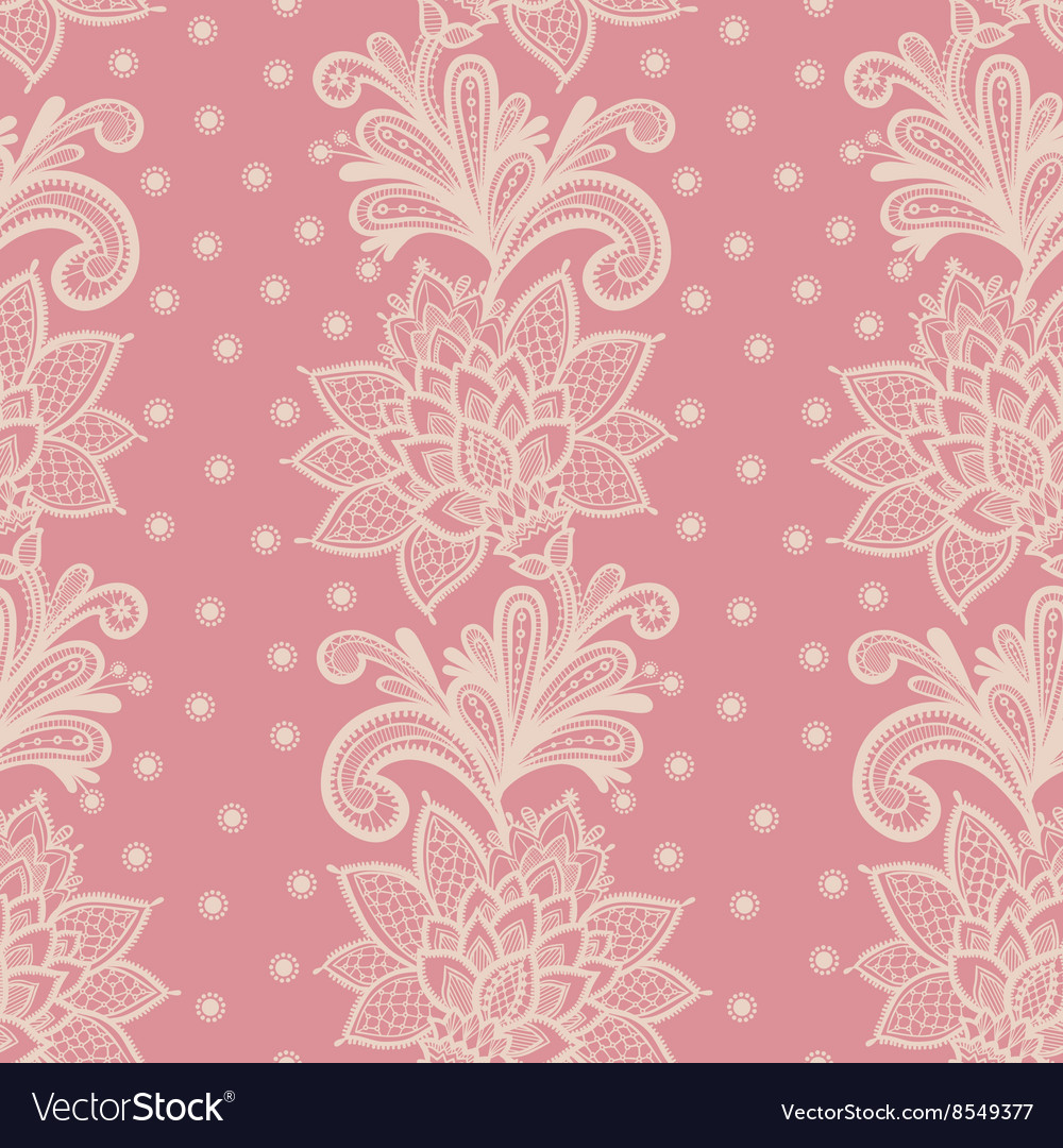 old white elegant doily on lace pink background vector 8549377