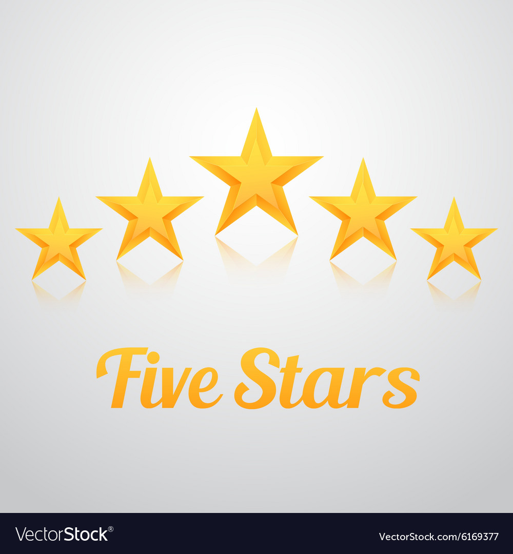 Set of Gold Stars Icon Five Stars Icon