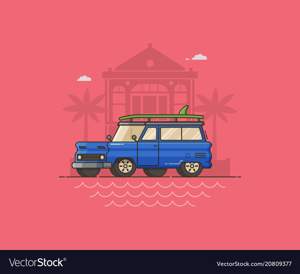 Summer auto travel concept