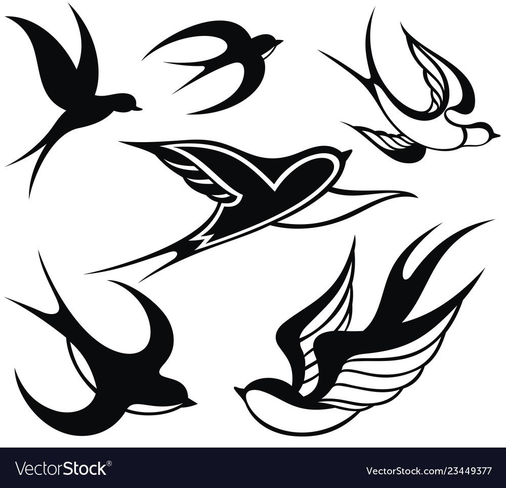 swallow logo royalty free vector image vectorstock vectorstock