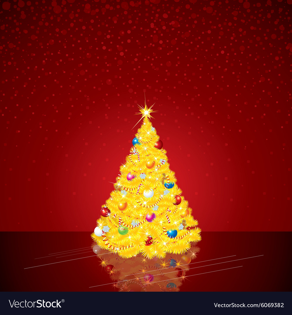 Christmas Background with Bright Tree