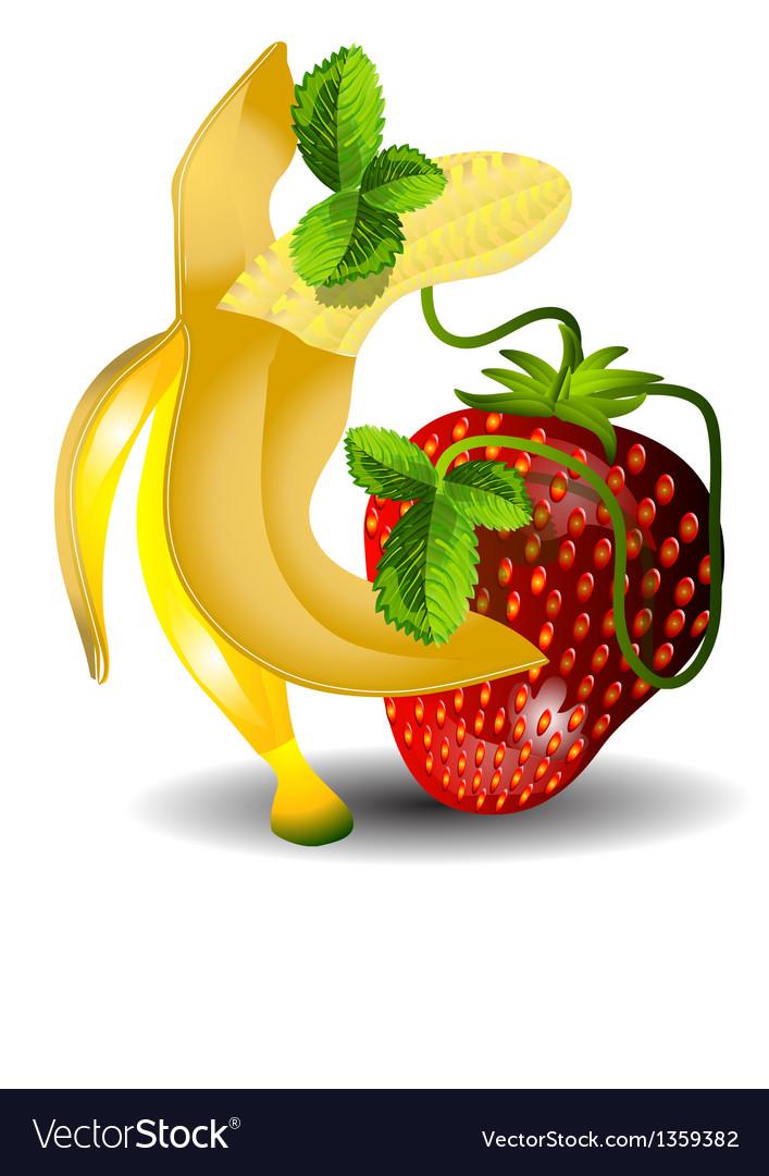 торт картинка где нарисован банан клубника и того, благодаря совместной