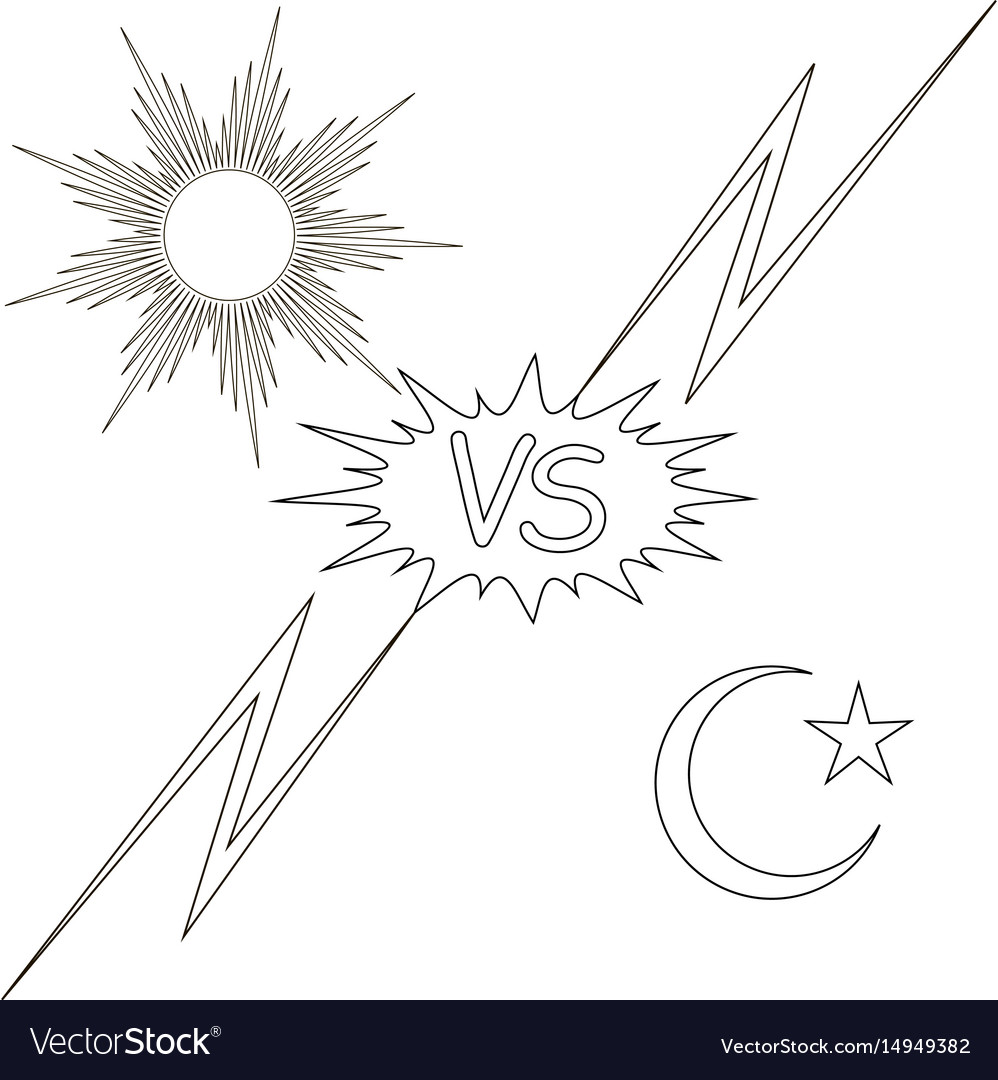 Day and night vs the sun and the moon star