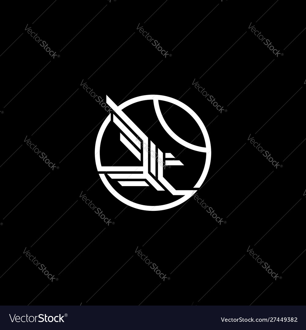 Eagle logo template with circle line art icon