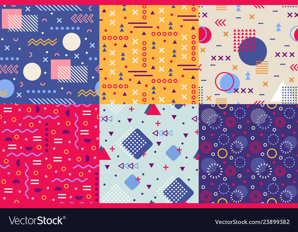 Memphis funky pattern retro 90s abstract shapes