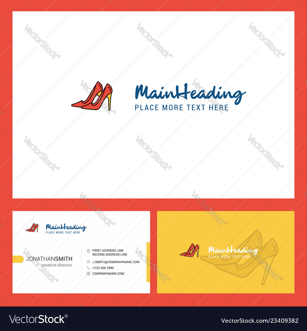 0ed54db9f493e Sandals logo design with tagline front and back Vector Image