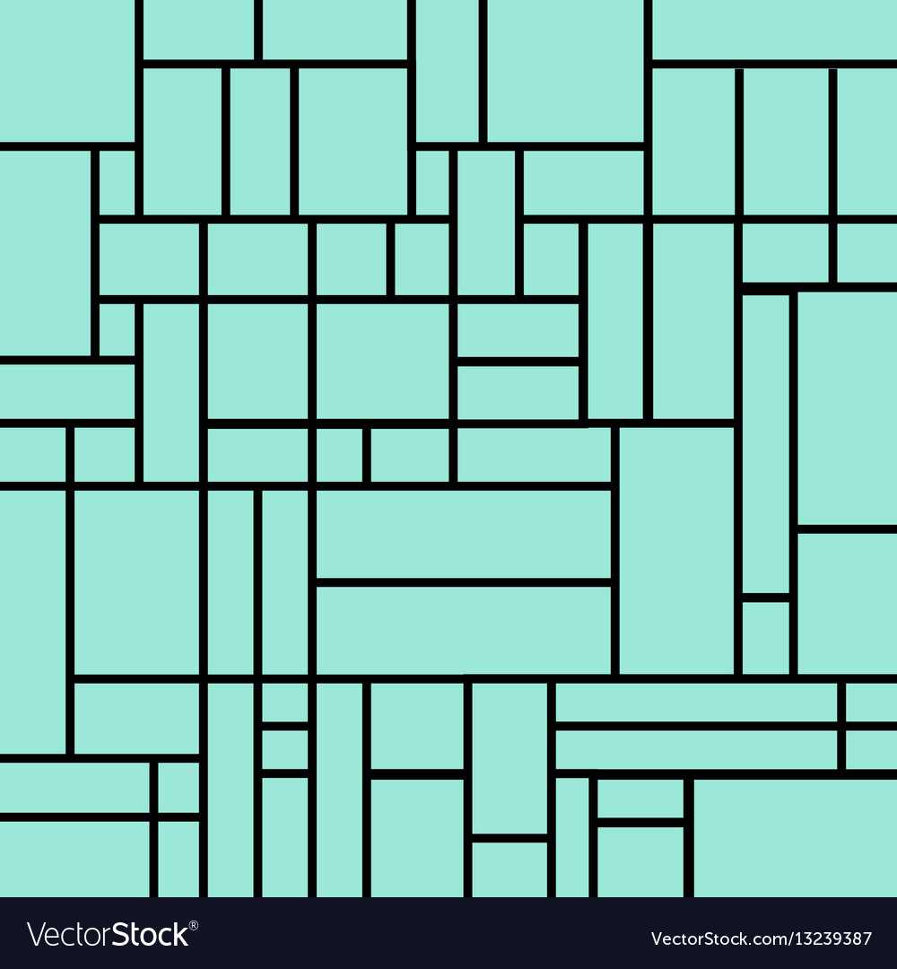 Abstract squares pattern on a light blue