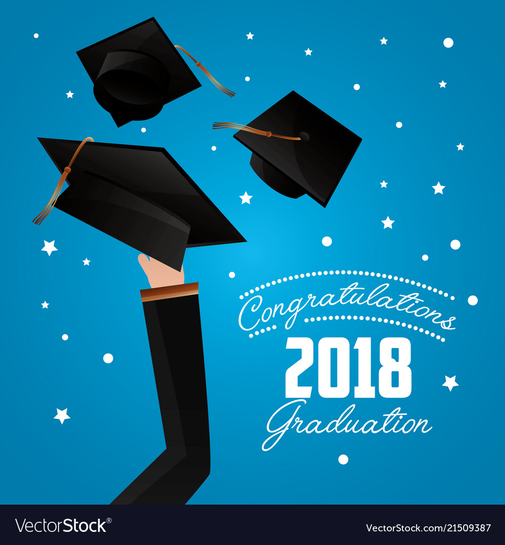 Congratulations Graduation Card Royalty Free Vector Image