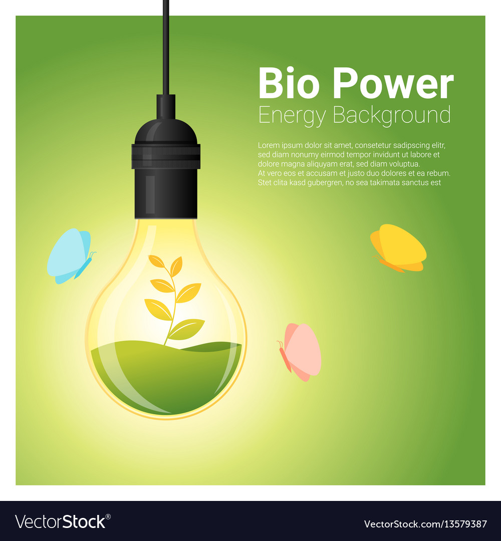Energy concept background with bio energy in vector image