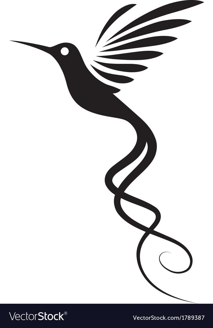 hummingbird tattoo royalty free vector image vectorstock
