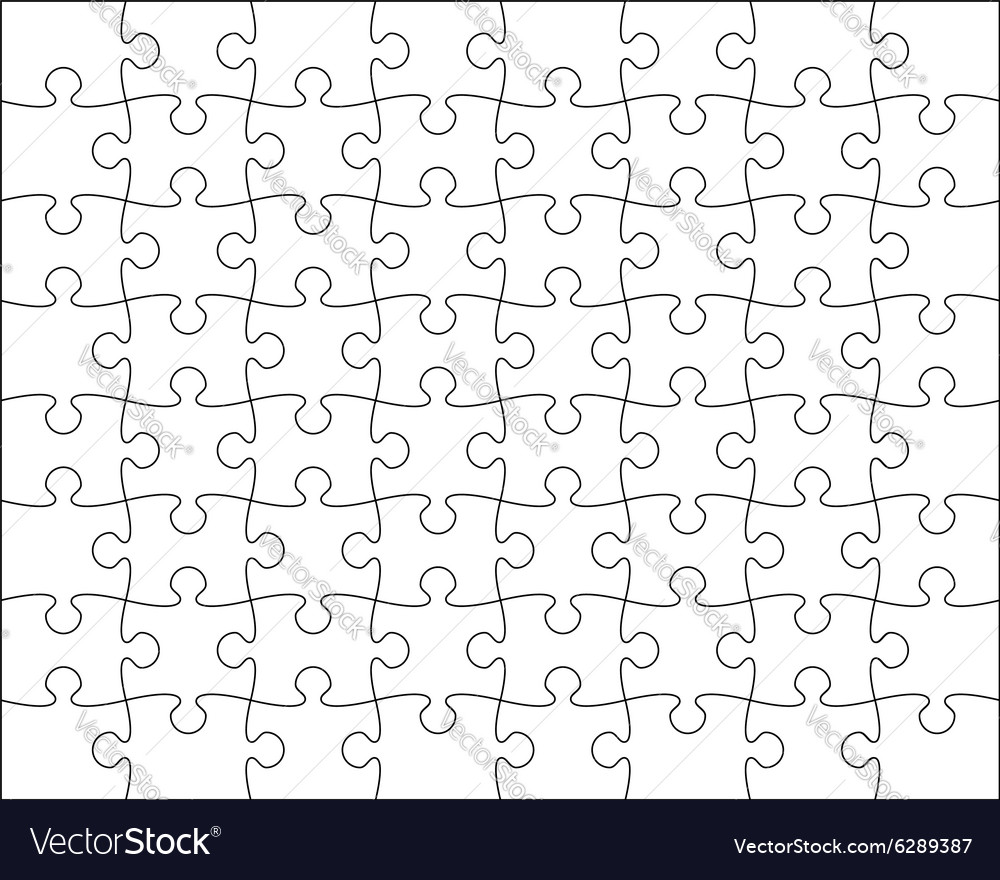 Jigsaw Puzzle Template Editable Blend Royalty Free Vector