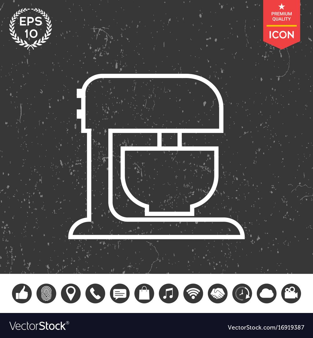 Kitchen mixer linear icon vector image
