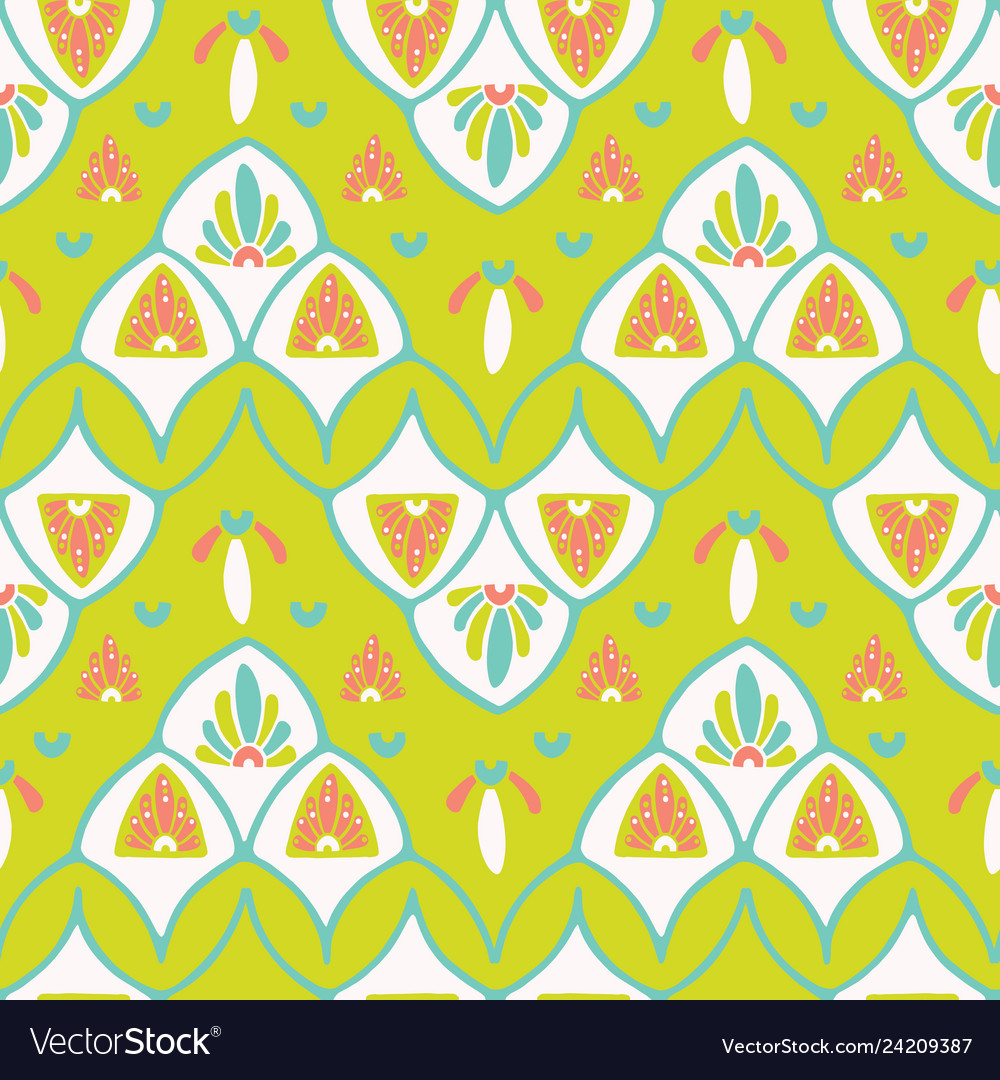 Pretty stylized floral pattern seamless repeating