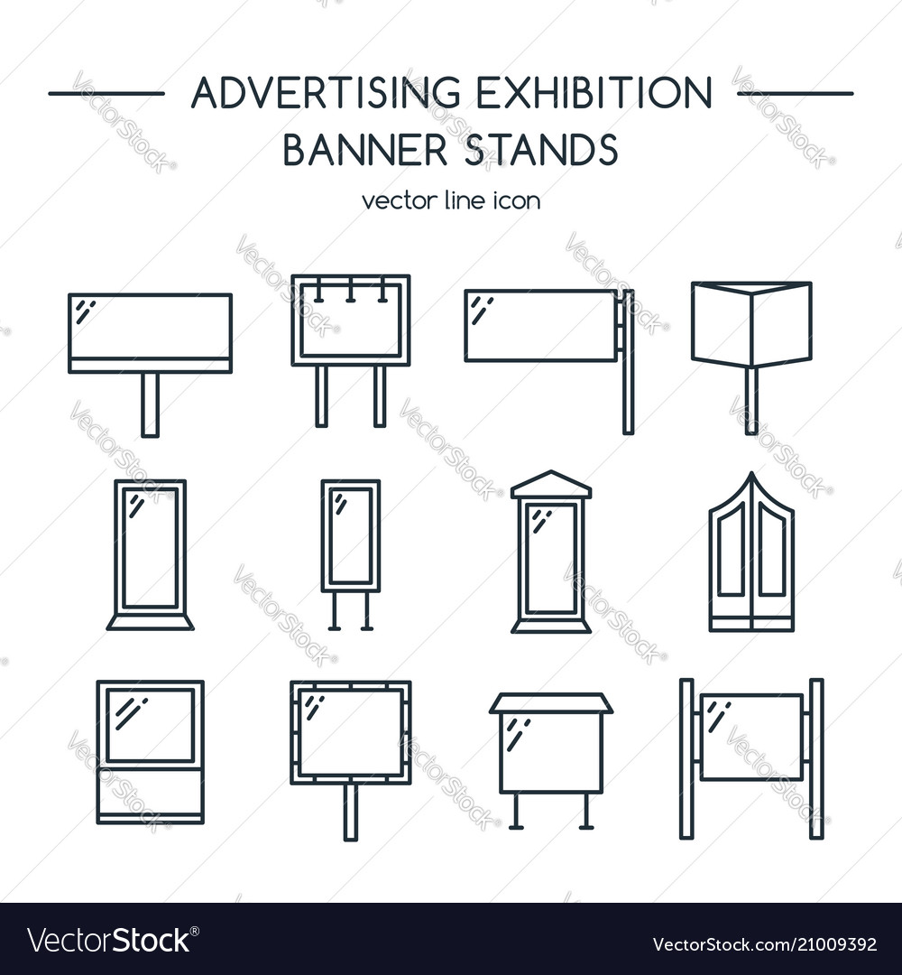 Advertising billboards and banner display
