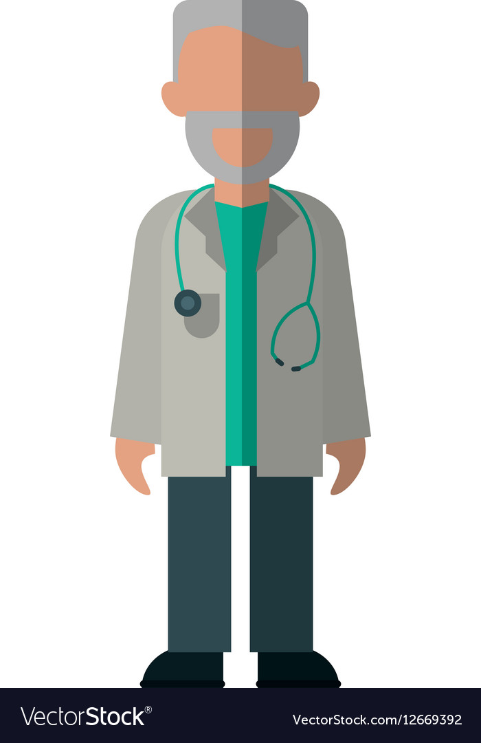 Character doctor beard stethoscope health