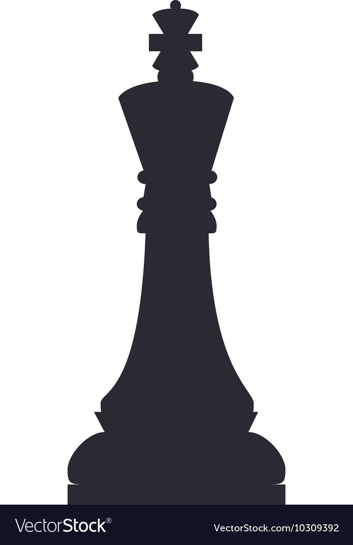 Chess piece king Royalty Free Vector Image - VectorStock