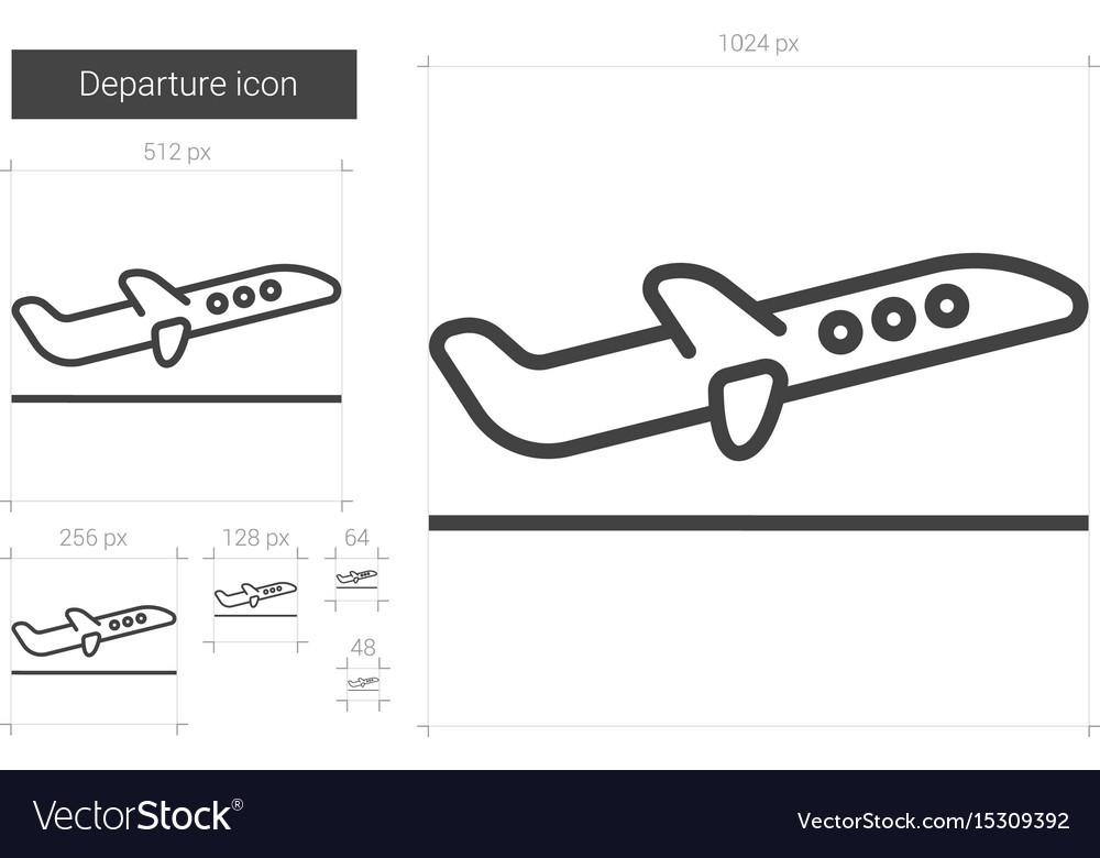 Departure line icon