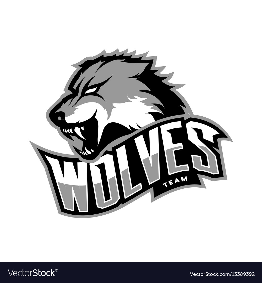 Furious wolf sport logo concept isolated on