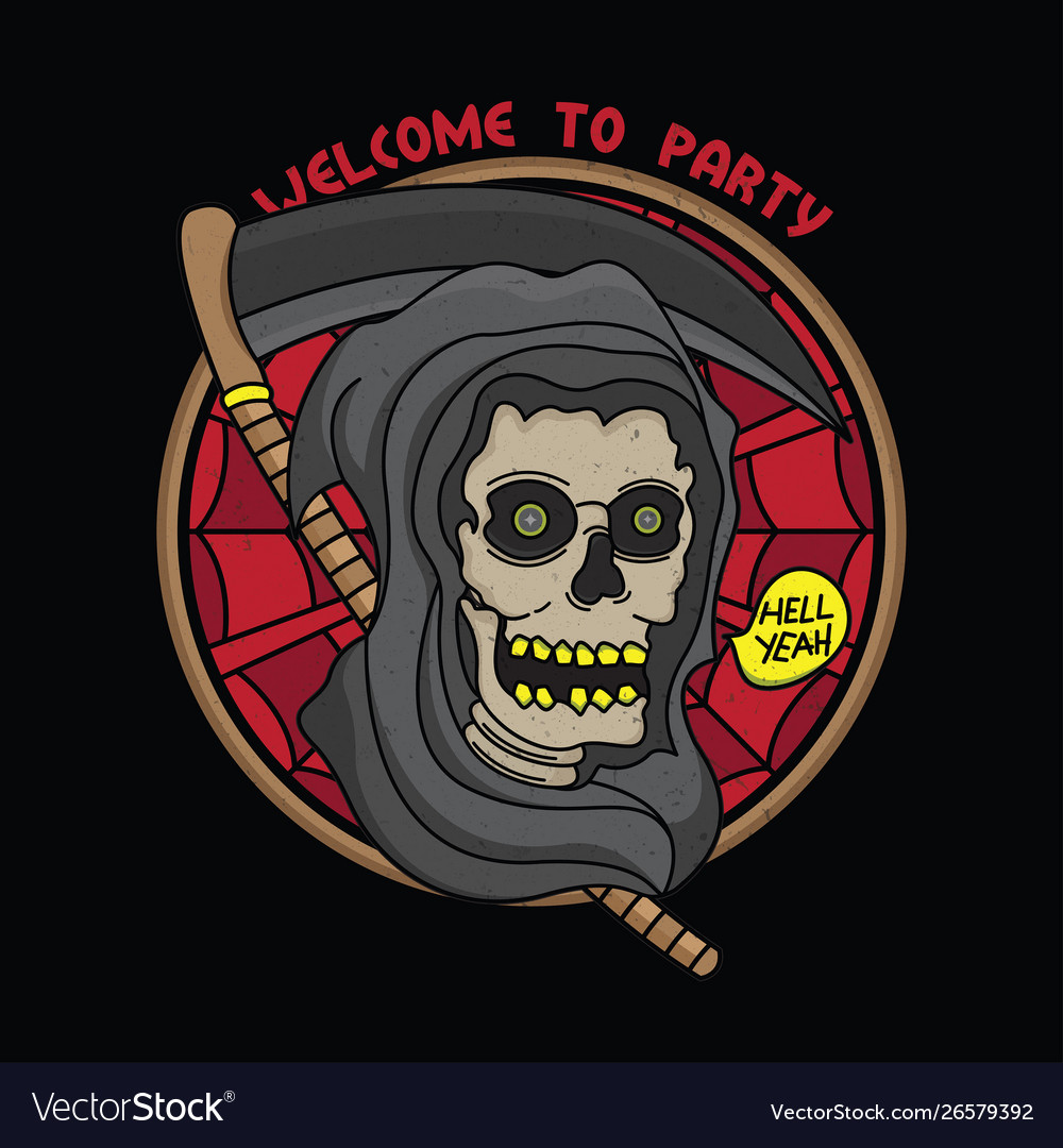 Horror party flash tattoo design