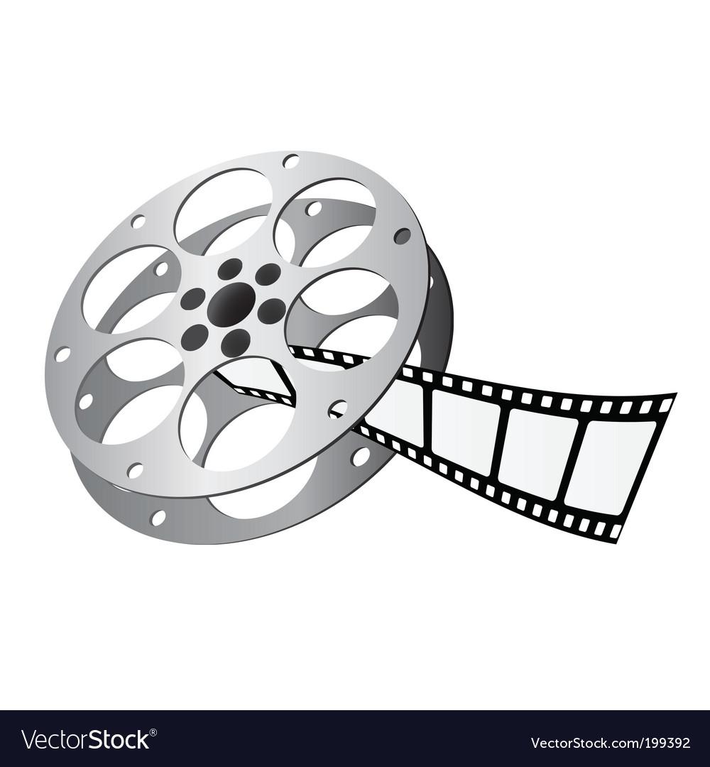 Movie Reel Royalty Free Vector Image Vectorstock