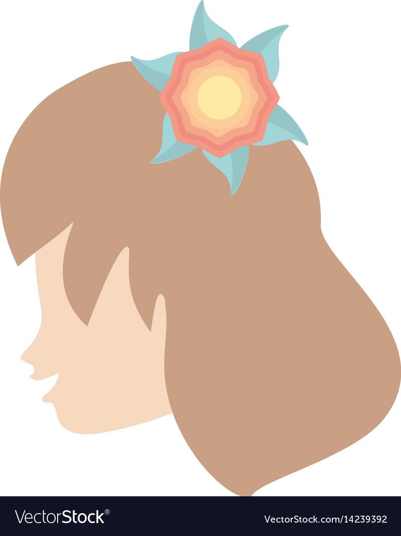 Profile woman flower romantic image