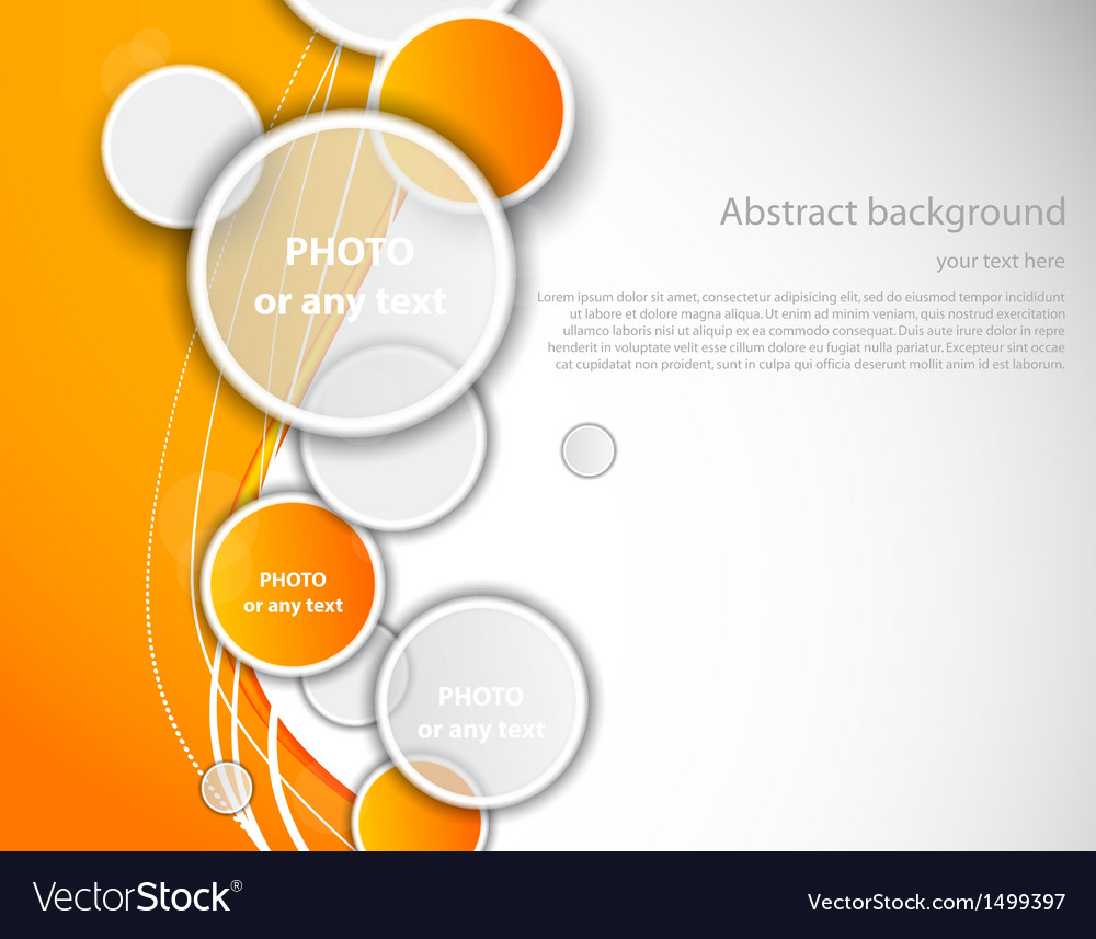 Abstract orange brochure