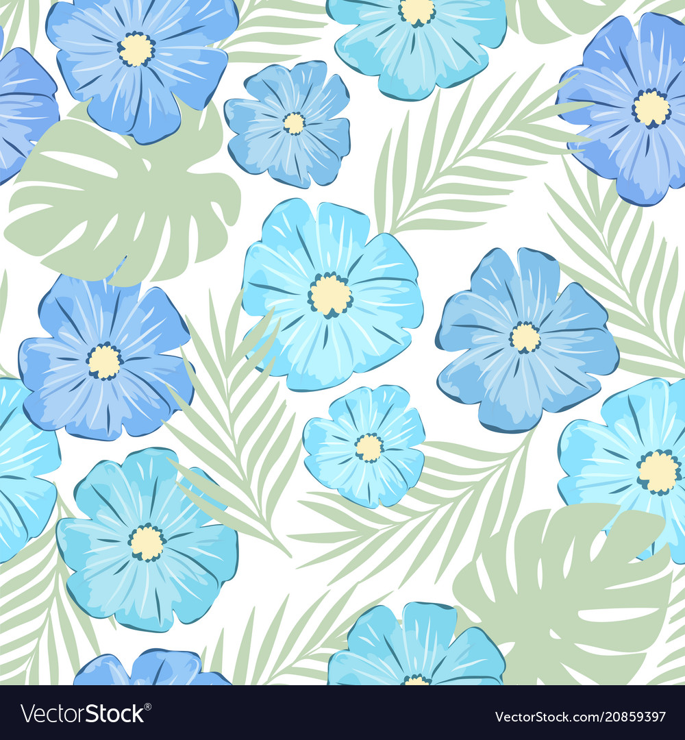 Blue flowers royalty free vector image vectorstock blue flowers vector image izmirmasajfo