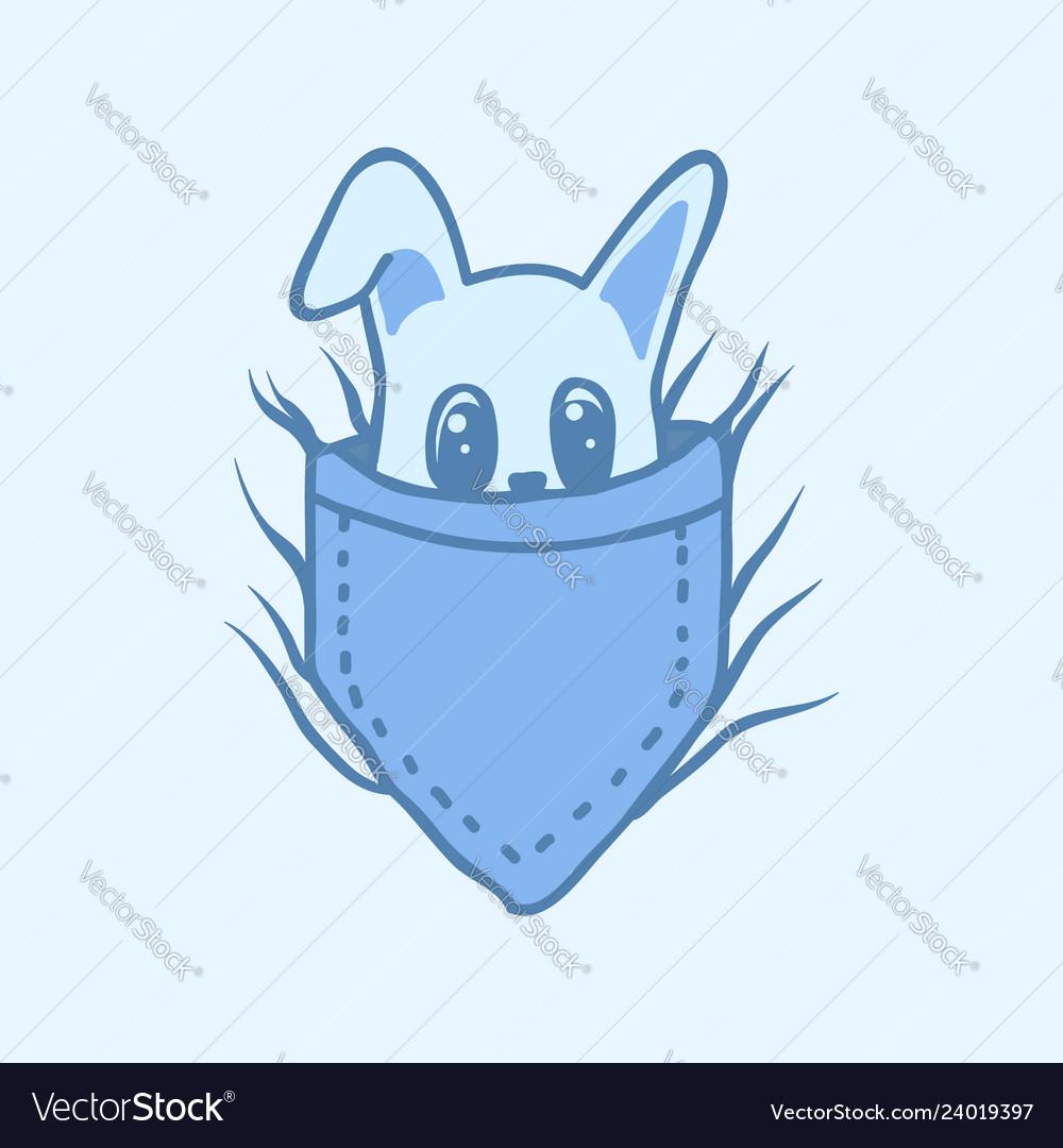 Bunny pants pocket