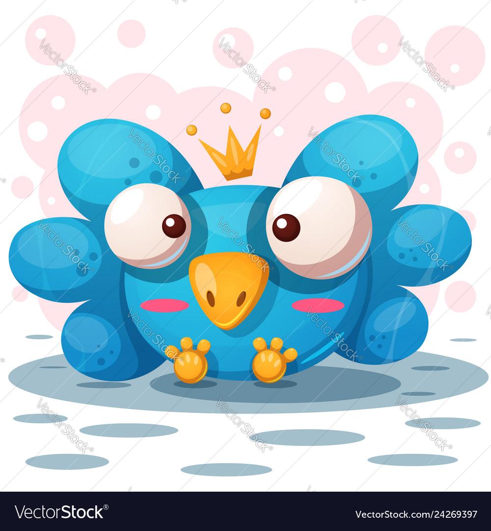 Cute bird cartoon characters