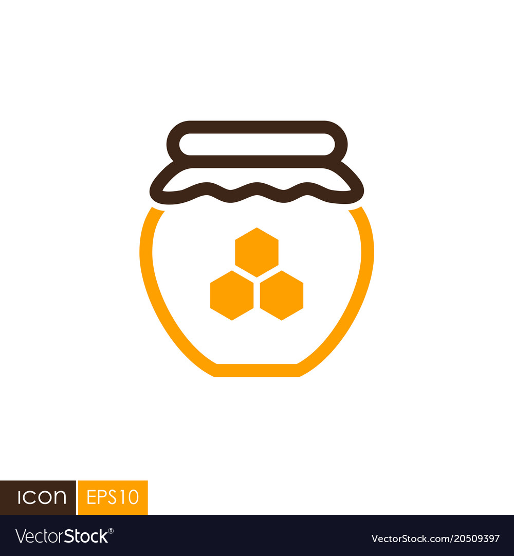 Jar with honey icon