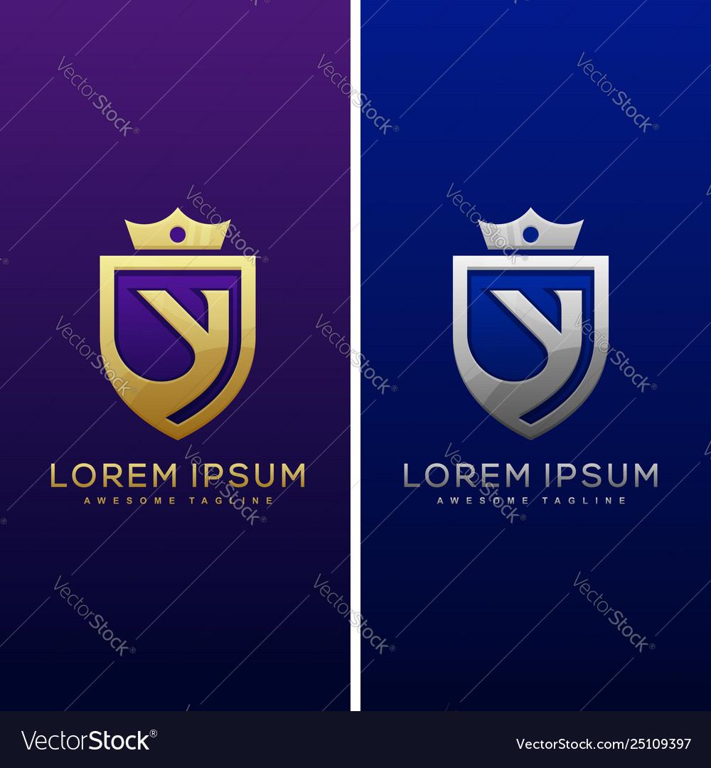Luxury letter y concept design template