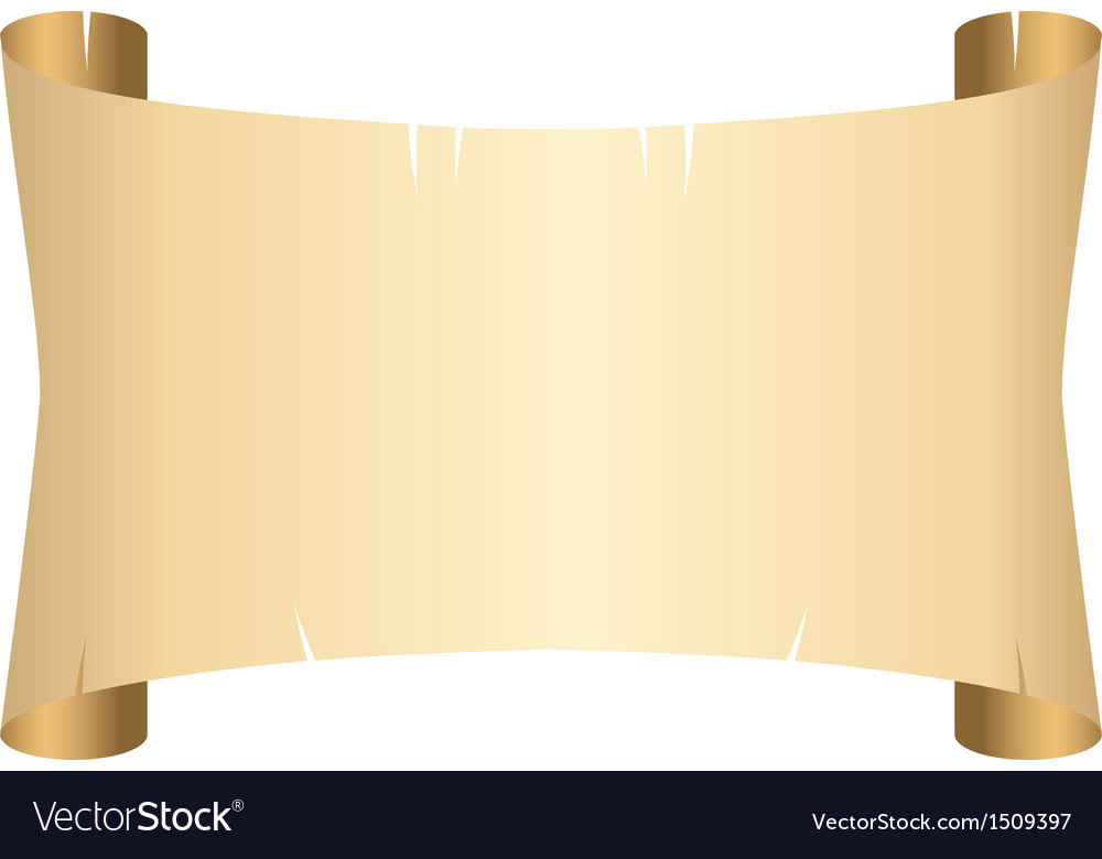 Old scroll paper vector image