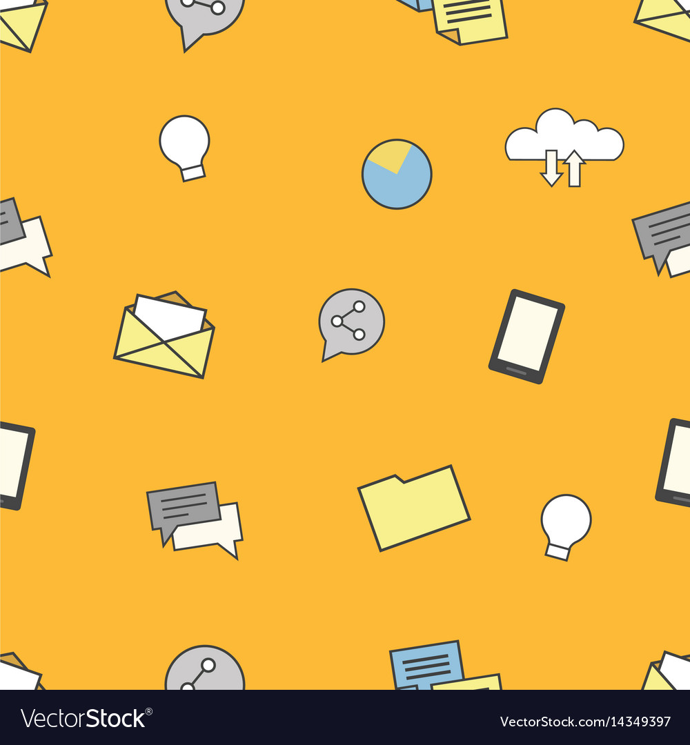 Set of internet and technologies icons seamless