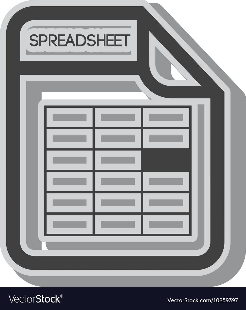 Spreadsheet file document vector image