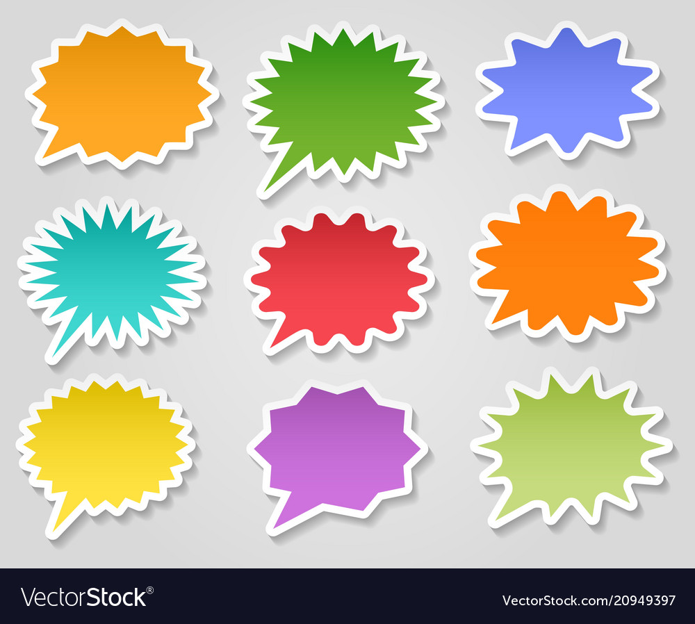 Star burst stickers set