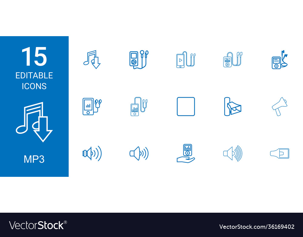 15 mp3 icons