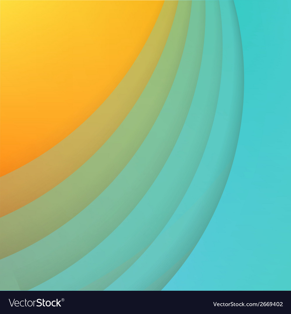 Abstract background with blue paper curves