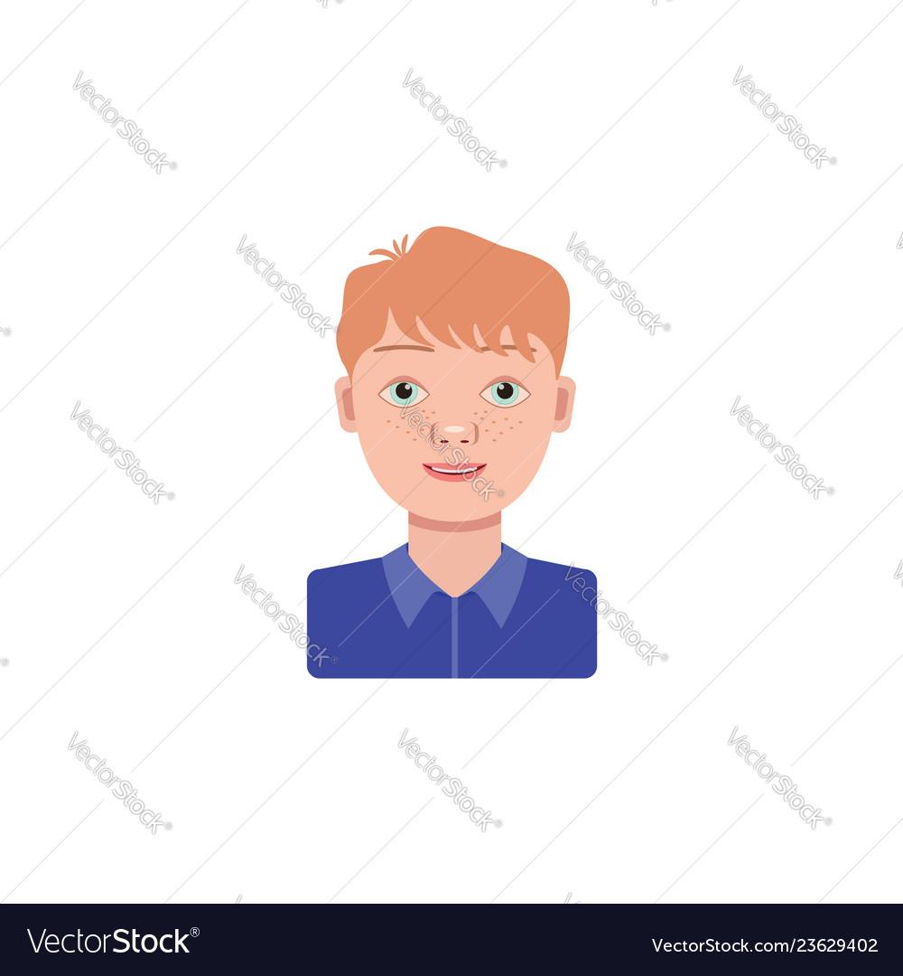 Color image boy schoolboy on a white