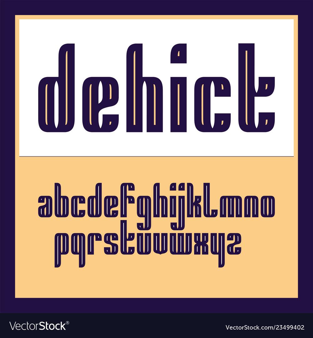 Condensed original bold display font design