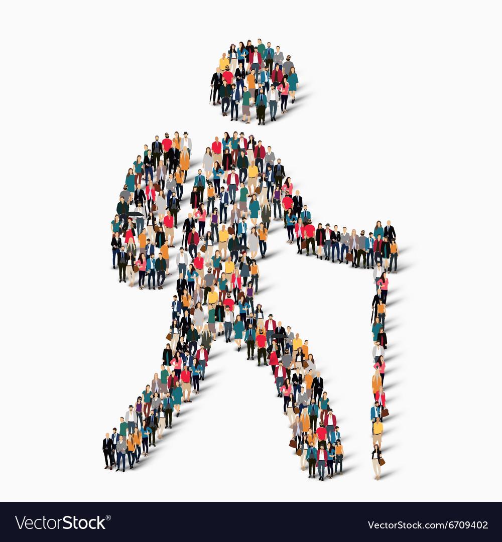 People shape man traveler