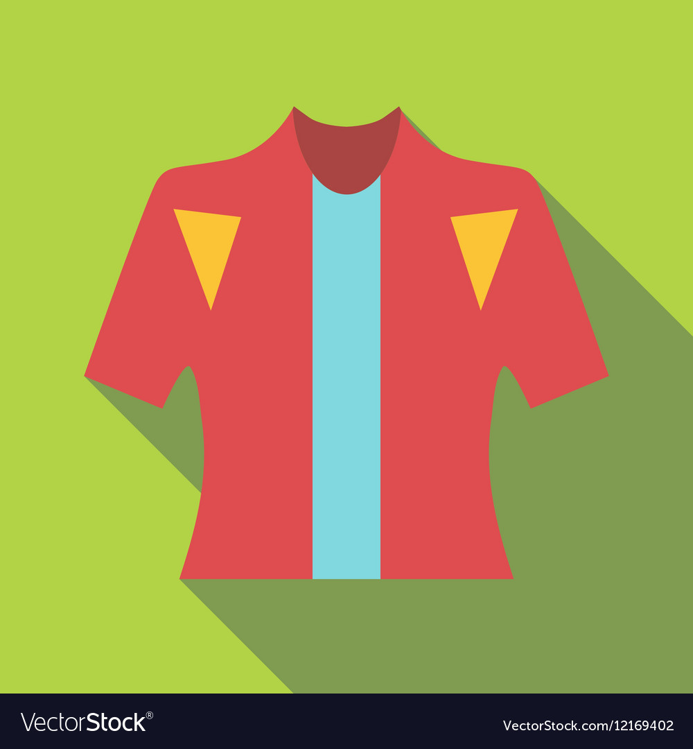 T-shirt for cyclists icon flat style vector image