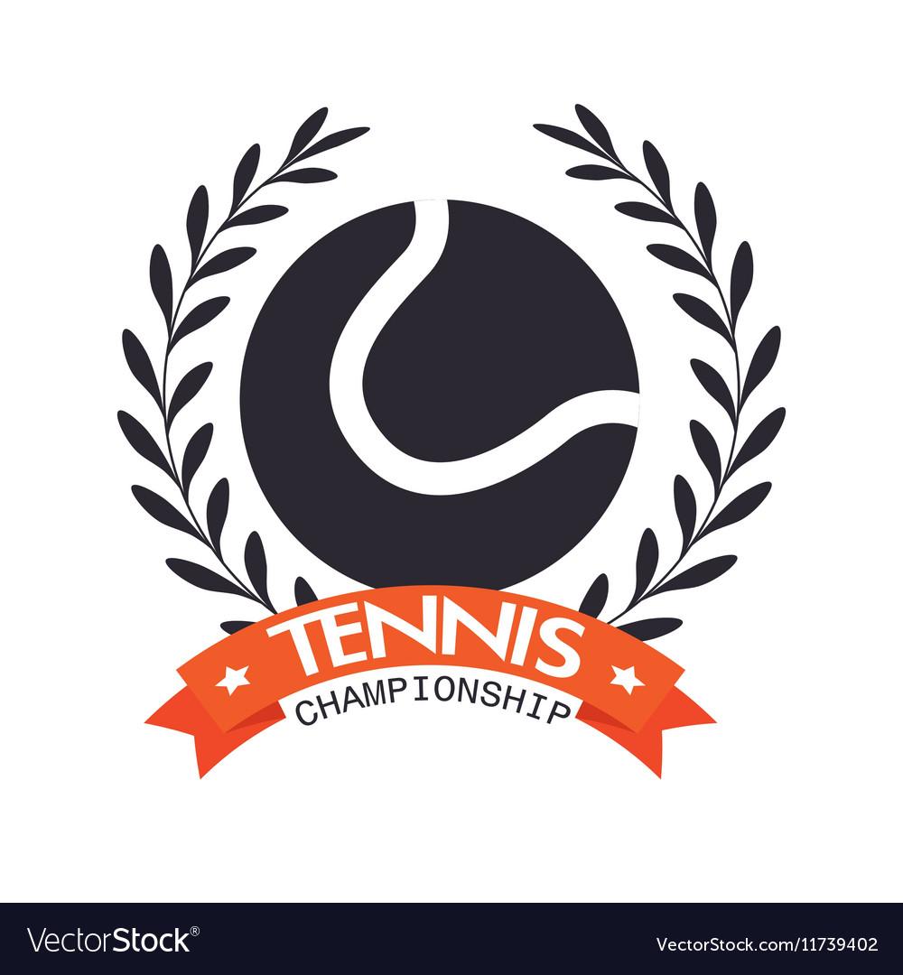 Tennis championship ball label design