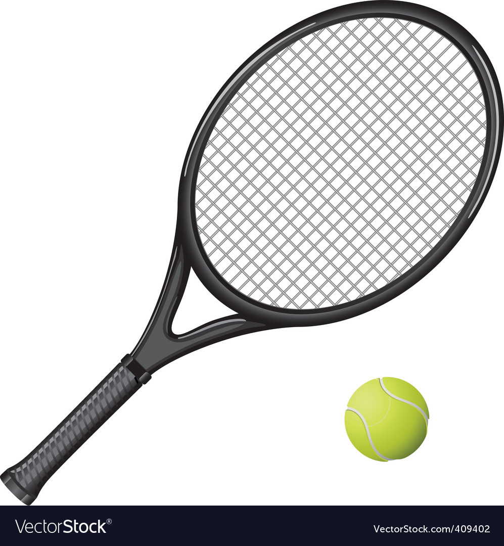 Tennis Racket Royalty Free Vector Image Vectorstock