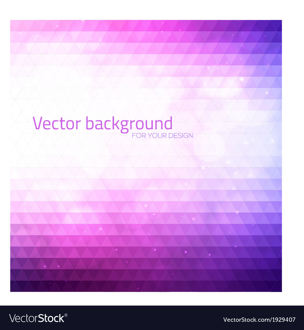Abstract triangles background with bokeh