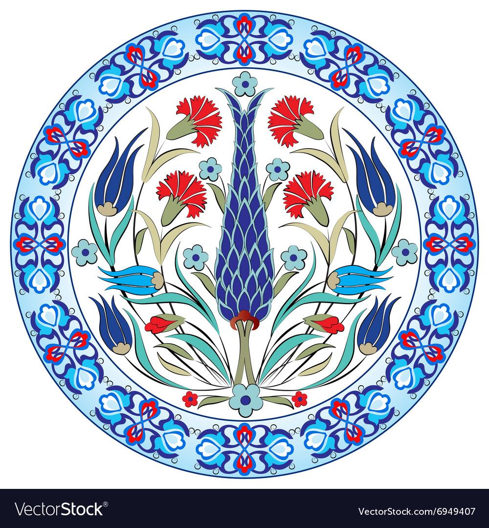 Antique ottoman turkish pattern design thirty nine