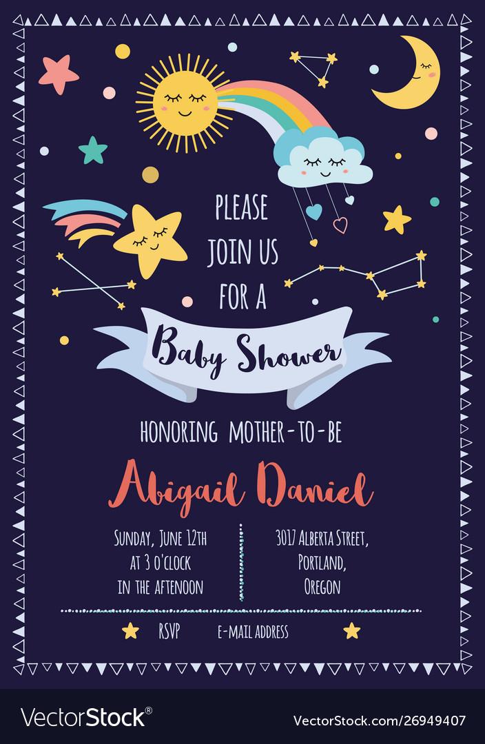 Bashower invitation template for bagirls