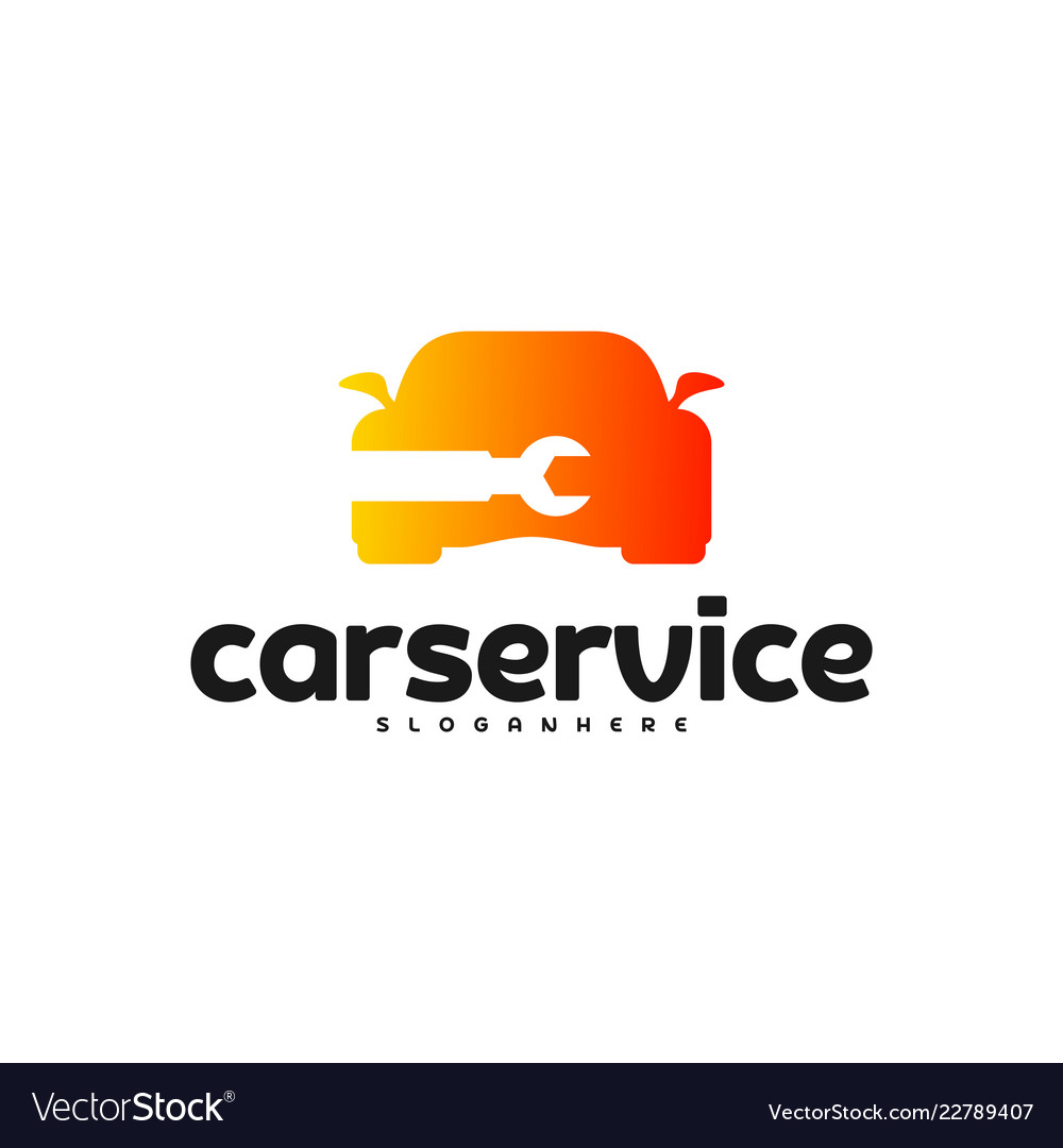 Car service logo car repair logo design template