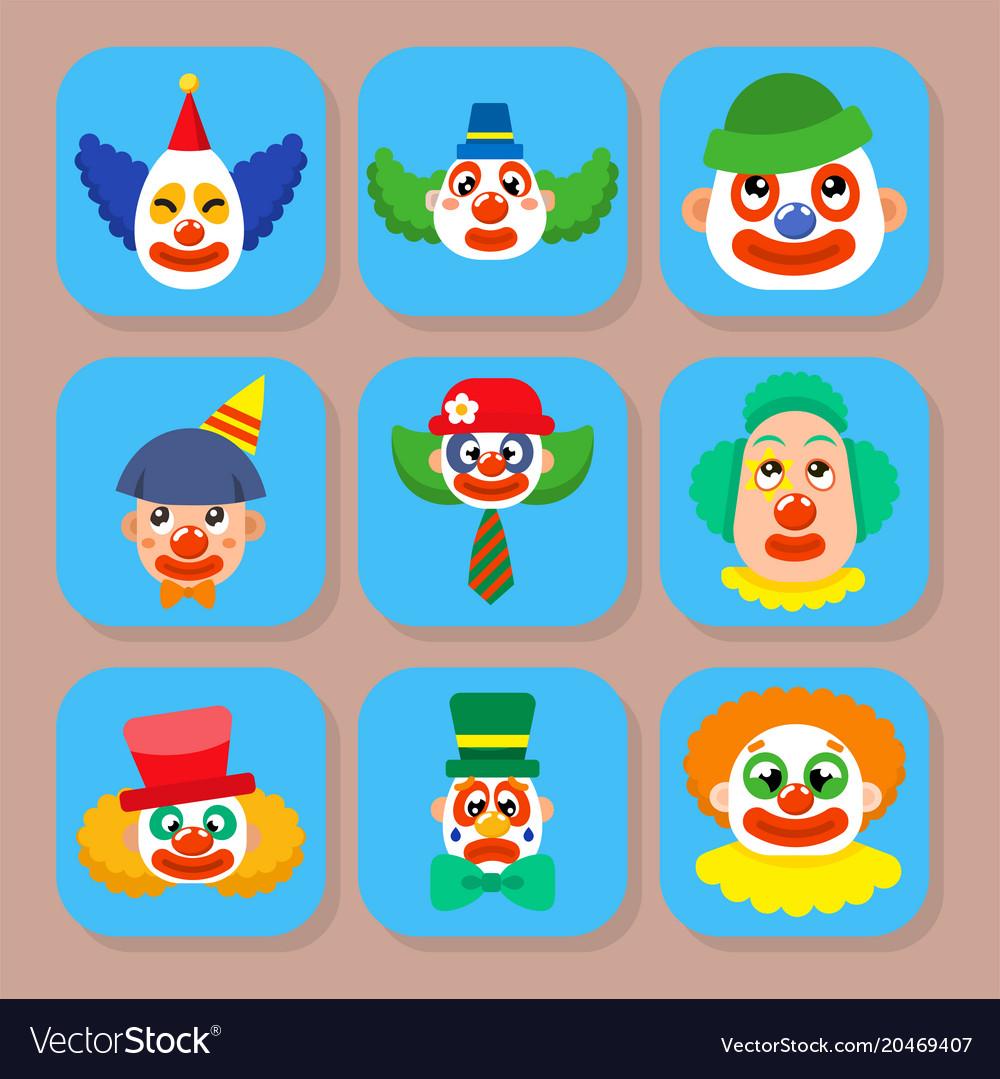 clown circus man characters performer royalty free vector