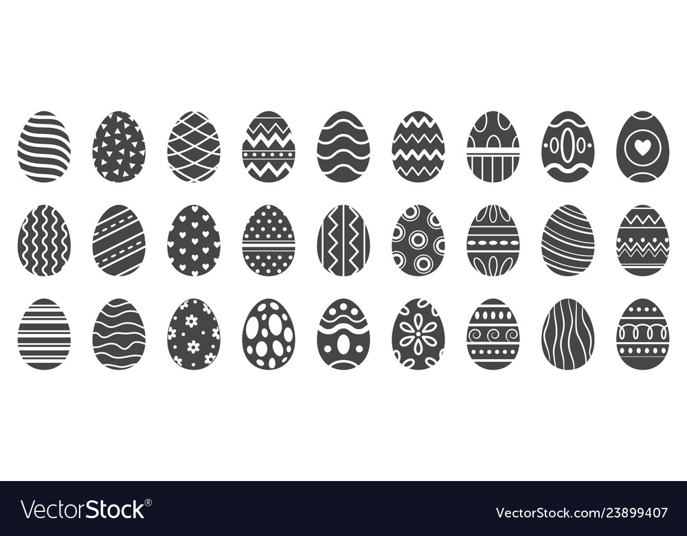 Easter eggs silhouette cute easters celebration
