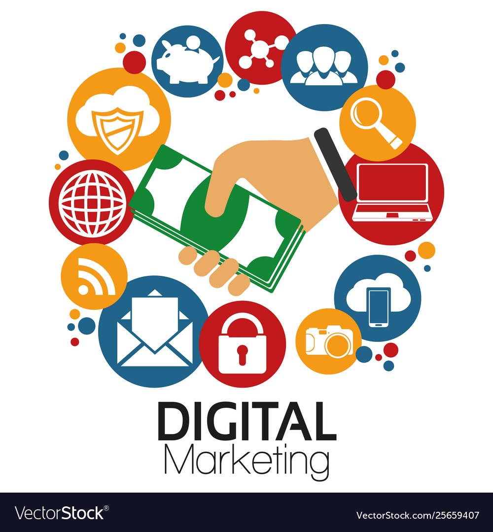 graphic digital marketing royalty free vector image graphic digital marketing royalty free vector image